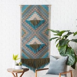"Artistic Weavers Tian Hand Woven 30 x 60 Wool Southwestern Wall Tapestry - 30"" x 60"""