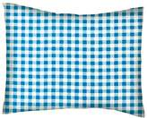 SheetWorld Percale Twin Pillow Case - Turquoise Gingham Check - Made In USA