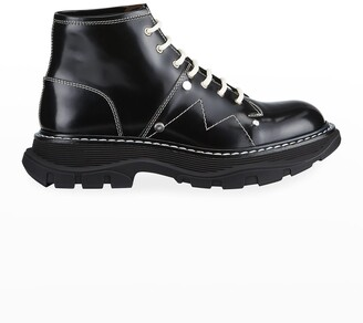 Alexander McQueen Tread Lace-Up Boots