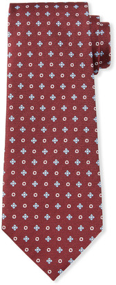 Ermenegildo Zegna Men's Micro Flowers & Circles Silk Tie