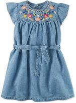 Carter's Embroidered Denim Dress, Toddler Girls (2T-4T)