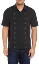 Nat Nast Men's Nordic Embroidered Silk Blend Sport Shirt