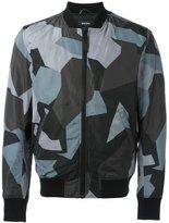 Diesel geometric print bomber jacket
