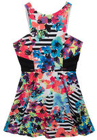 Rare Editions Girls 7-16 Mixed Print Dress