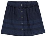 Little Karl Marc John Jasmy Embroidered Button-Up Fluid Skirt
