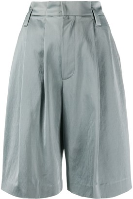 Brunello Cucinelli Paperbag Waist Knee-Length Shorts