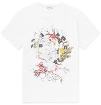 Alexander McQueen Logo-Print Organic Cotton-Jersey T-Shirt