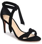 Alexandre Birman Patty Suede Bow Tie d'Orsay Sandals