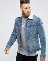 Wrangler Borg Lined Denim Jacket