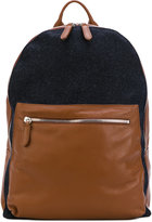 Eleventy contrast pocket backpack - men - Leather/Virgin Wool - One Size