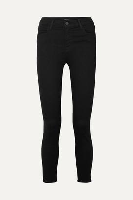 J Brand Alana Cropped High-rise Skinny Jeans - Black