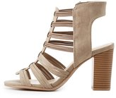 Charlotte Russe Caged Strappy Slingback Sandals