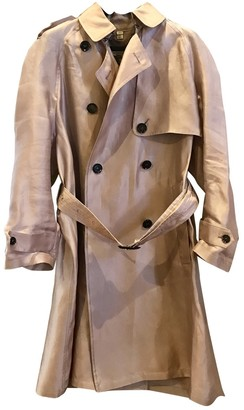 Burberry Pink Silk Trench Coat for Women