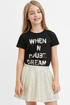 Forever 21 FOREVER 21+ Textured Metallic Skater Skirt (Kids)
