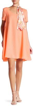 FRNCH Short Sleeve Back Keyhole Dress