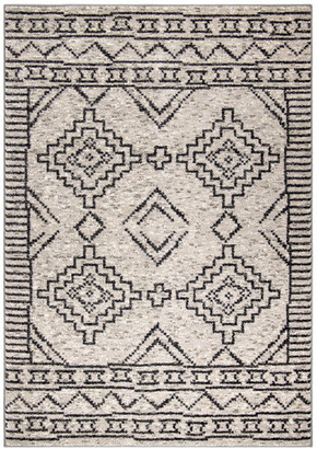 "Orian Rugs My Texas House by Orian South By Silver Area Rug, Silver, 5'3""x7'6"""