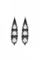 Forest of Chintz Black & White Beetle Posse Earrings