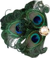 Sheliky Fascinator Peacock Feather Clip Bride Wedding Headdress Party Headpiece for Women