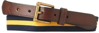 Polo Ralph Lauren Stripe & Leather Belt
