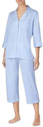 Ralph Lauren Bingham Knits Cotton Jersey Cropped PJ Set