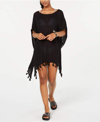 Roxy Juniors' Make Your Soul Tasseled Poncho Cover-Up Women Swimsuit