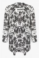 Select Fashion Fashion Womens Grey Grid Rose Soft Jacket - size 10