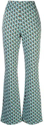 Dvf Diane Von Furstenberg Geometric Print Trousers