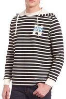 MAISON KITSUNÉ Marin Striped Hoodie