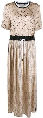 Peserico Polka Dot Print Elasticated Waist Dress
