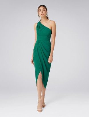 Forever New Mandy One-Shoulder Drape Maxi Dress - Storm - 4