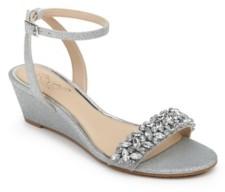 Badgley Mischka Bellevue Evening Wedge Sandal Women's Shoes