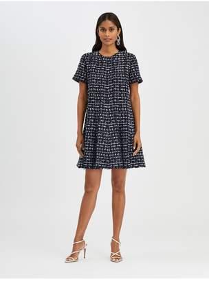 Oscar de la Renta Check Tweed Dress