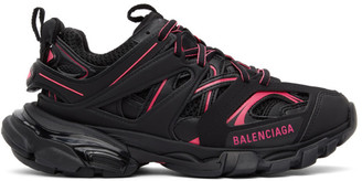 Balenciaga Black and Pink Track Sneakers