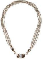 Lagos Two-Tone Multistrand Topaz Caviar Necklace