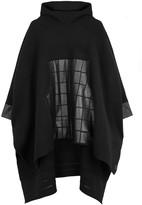 Y-3 Black Hooded Wool Poncho Sweatshirt