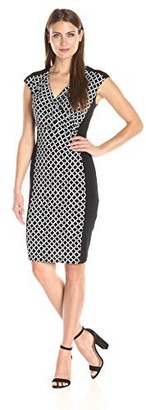 Connected Apparel Women's Chain Link Print Panel Front Jersey