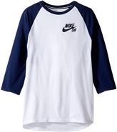 Nike SB Dry Icon 3/4 Sleeve Top Boy's Clothing