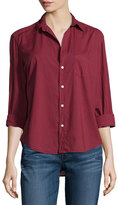 Frank And Eileen Eileen Long-Sleeve Button-Front Blouse, Wine