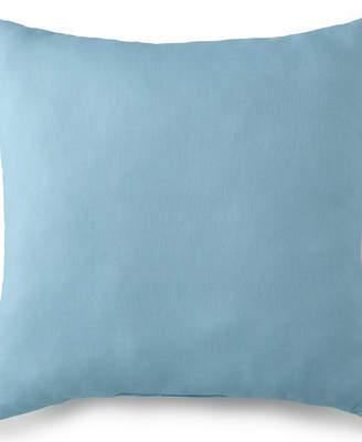 """Colcha Linens Tropical Bloom Square Cushion 20""""x20"""" - Solid Aqua Bedding"""
