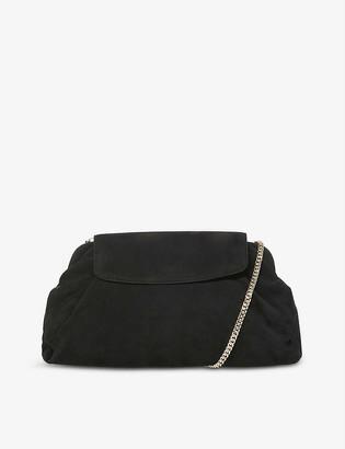 Dune Enlightened leather clutch bag