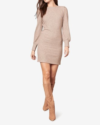 Express Bb Dakota Long Sleeve Ribbed Mini Dress