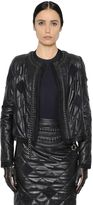 Maison Margiela Quilted Nappa & Organza Jacket W/ Chain