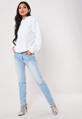 Missguided Light Blue Low Rise Straight Leg Jeans