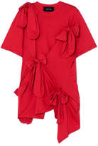 Simone Rocha Bow-detailed Cotton-jersey T-shirt - Red