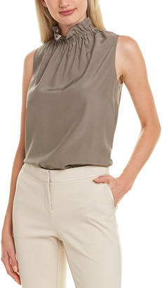 Lafayette 148 New York Percy Silk Blouse