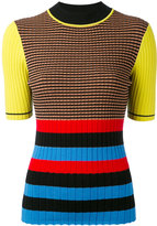 Opening Ceremony striped top - women - Cotton/Lurex/Polyester/Viscose - S