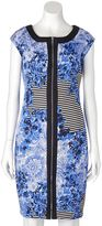 Jax Women's Floral Striped Sheath Dress