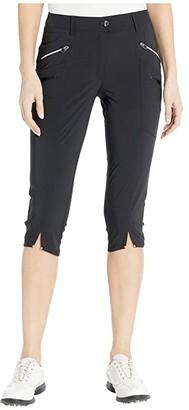 Jamie Sadock Airwear(r) Hybrid Lightweight Mid-Capris (Jet Black) Women's Casual Pants