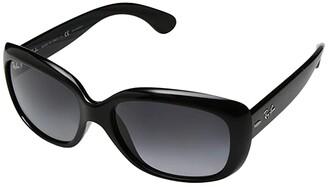 Ray-Ban Jackie Ohh RB4101 58mm (Shiny Black/Polarized Grey Gradient) Plastic Frame Fashion Sunglasses