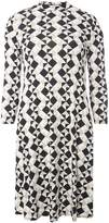 Dorothy Perkins **Tall Black and Stone Geometric Print Swing Dress